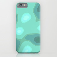 green bloppy shape iPhone & iPod Case by Jcks
