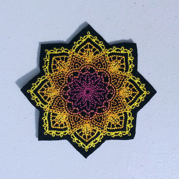 sew on mandala patch 024