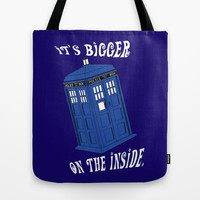 Doctor Who TARDIS Tote Bag by Midnight House Elves | Society6