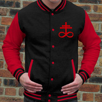 Brimstone Sigil Varsity Jacket - FREE Shipping - Satanic Bible / King Diamond Inspired