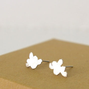 Sterling Silver Cloud Stud Earrings by Nafsika on Etsy