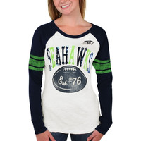 Seattle Seahawks Women's Roll Out Thermal – College Navy/White
