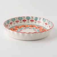 Poppy Ring Pie Pan by Anthropologie Orange Round House & Home