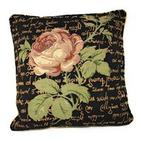 Tache Solitary Rose Throw Cushion Pillow Cover (15705)