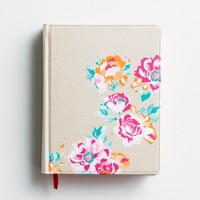 NIV Journal the Word Bible for Teen Girls - Gold Floral