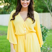 A Day In The Cabana Romper-Banana - NEW ARRIVALS