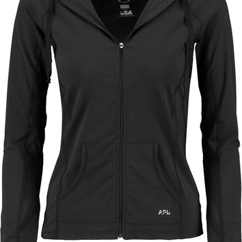 Mesh-paneled stretch-knit hooded jacket | APL Athletic Propulsion Labs | US | THE OUTNET
