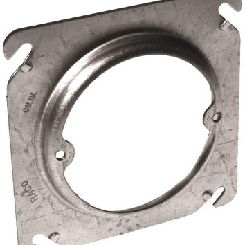 Hubbell Square Cover 4 In. Ceiling Fixture Mud Ring Raised