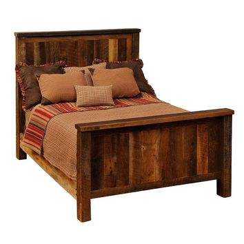 Barnwood California King Traditional Bed - Complete