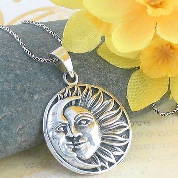 Tranquil Sun and Moon Necklace