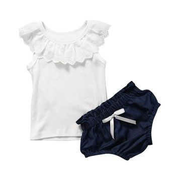 Girls' Clothing (newborn-5t) Clothing, Shoes & Accessories 6/9 Months Baby Girls Summer Suits Bright In Colour