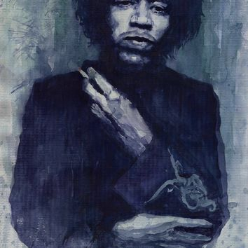 portrait canvas painting figure print watercolor masterpiece Bob Marley giant poster prints on canvas singer guitar player