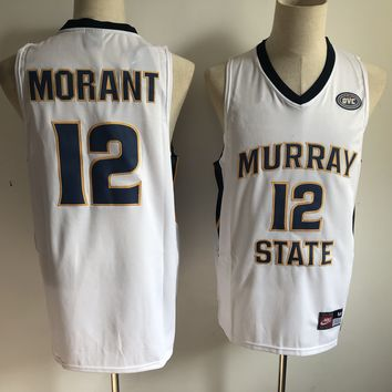 "Temetrius Jamel ""Ja"" Morant #12 Murray State Racers Basketball Jersey White - Best Deal Online"