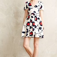 Painted Poppies Dress by Anthropologie Red Motif