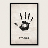 Skyrim Poster - The Dark Brotherhood Mysterious Note - We Know