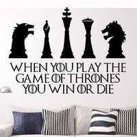 Handmade  Game of Thrones home decor wall decal