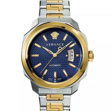 VONE9IB VERSACE DYLOS TWO-TONE AUTOMATIC WATCH