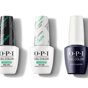 OPI - GelColor Combo - Base, Top & March In Uniform