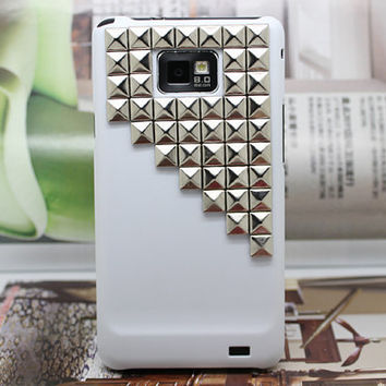 Hard Case Cover With Silvery Stud For Samsung Galaxy S2 i9100