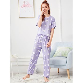 Polka Dot Pajama Set