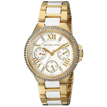 Michael Kors Women's MK5945 Camille Gold and Acetate Watch | Overstock.com Shopping - The Best Deals on Michael Kors Women's Watches