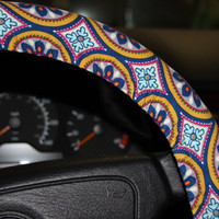 Winter Wheel Cover - Steering wheel cover - Warm Wheel cover - Bohem  wheel cover - Car Accessories- Women's wheel cover -Girls Wheel cover