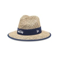 New Era Seattle Seahawks Training Camp Straw Hat - Men, Size: One Size (White)