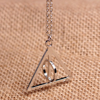 Deathly Hallows Necklace,Harry potter Necklace--Silver Necklace
