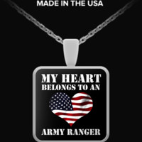 My Heart Belongs To an Army Ranger v.2 - Necklace spn-mhbar