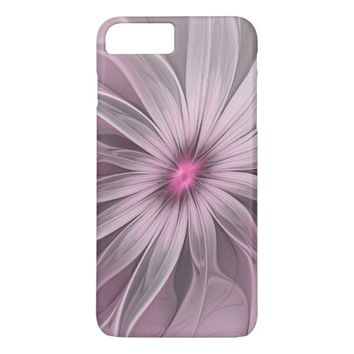 Pink Flower Waiting For A Bee Abstract Fractal Art iPhone 8 Plus/7 Plus Case