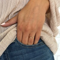 Opposites Attract Crystal Ring In Gold