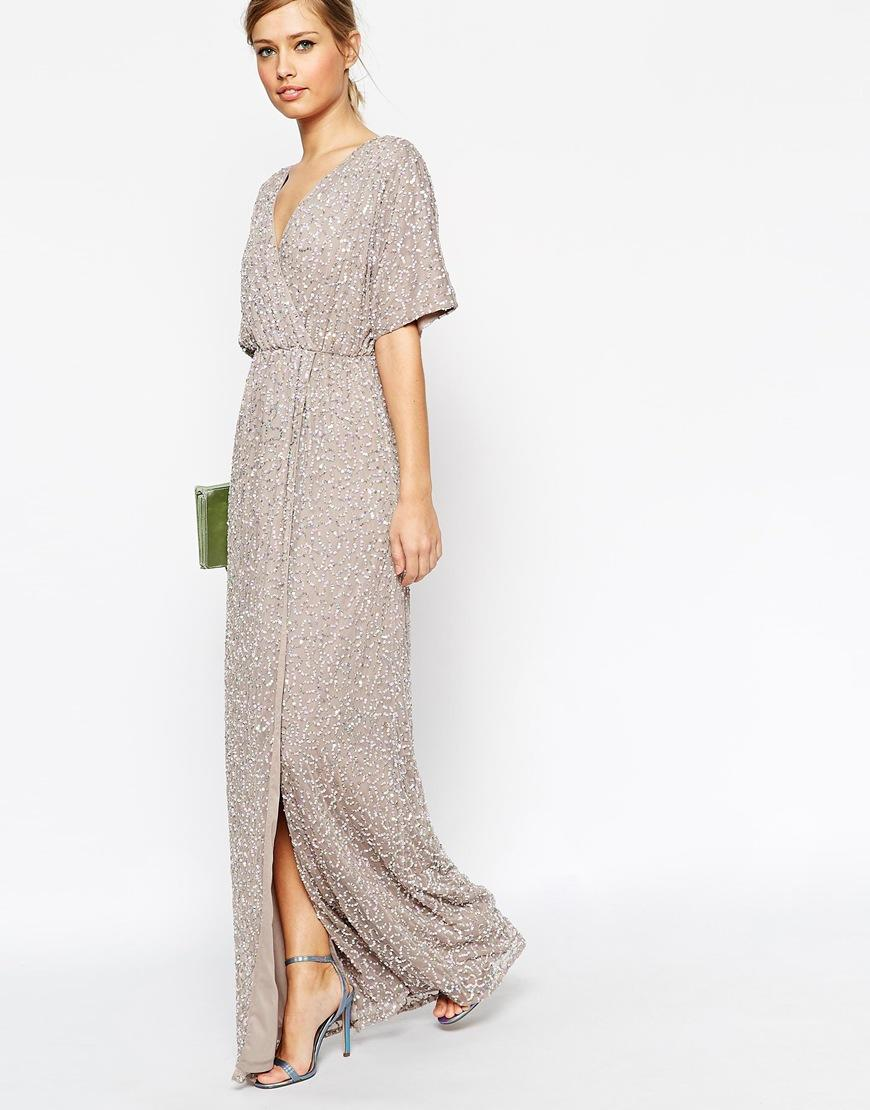 ASOS Sequin Kimono Maxi Dress at asos.com from ASOS | formal