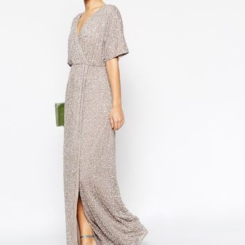 ASOS Sequin Kimono Maxi Dress at asos.com