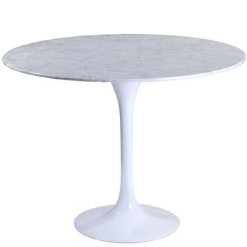 """Lippa 40"""" Round Marble Dining Table"""