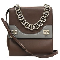 Prada Leather Vitello Soft Cacao Brown Leather Chain Shoulder Bag B5095C