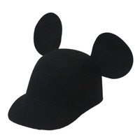 Black Mouse Ear Cap