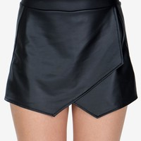 Leatherette Envelope Skort