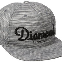 Diamond Supply Co Men's Champagne Snapback, Black, One Size