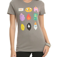 Adventure Time Heads Icons Girls T-Shirt