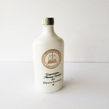 Vintage Albany College of Pharmacy 1971 Graduation Souvenir Bottle by Owens Illionois