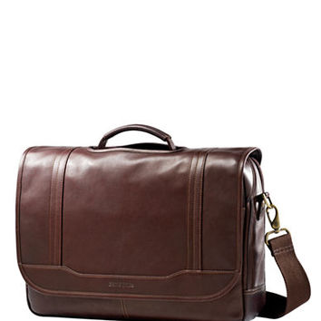 Samsonite Columbian Leather Flapover Briefcase