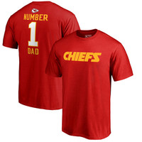 Men's Kansas City Chiefs NFL Pro Line by Fanatics Branded Red Big & Tall Number 1 Dad T-Shirt