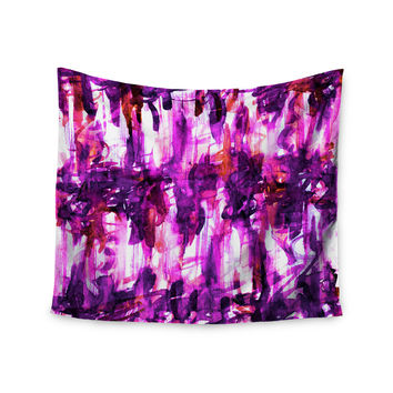 "Ebi Emporium ""White Noise 3"" Purple Magenta Wall Tapestry"