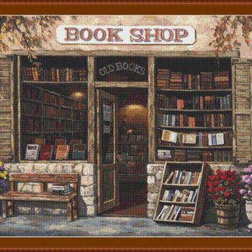 Book Shop CROSS STITCH PATTERN 489