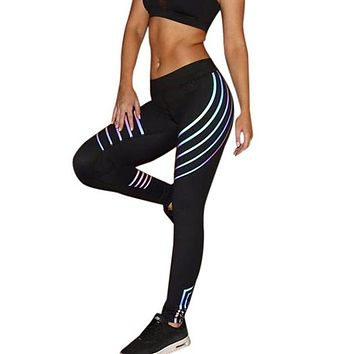Glow in the Dark Laser Stripe Leggings    * LIMITED EDITION *