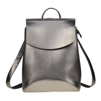 Fashion Women Backpack High Quality Youth Leather Backpacks for