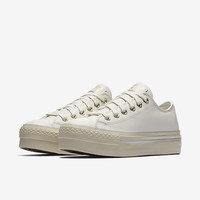 The Converse Chuck Taylor All Star Leather Platform Low Top Women's Shoe.
