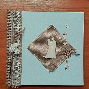 Rustic wedding guest book, Wedding book, countryedding guest wedding book, burlap wedding, shabby chic wedding book