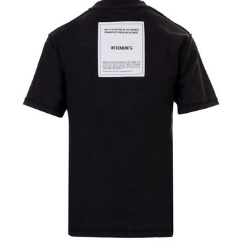 Inside Out Black T-Shirt by Vetements
