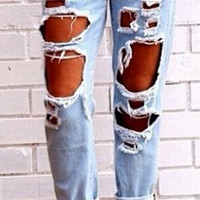 Wild Boyfriend Jeans Loose Big Yards